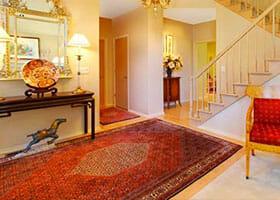Prova del tappeto a casa